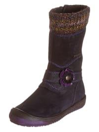 Richter Shoes Leder-Stiefel in Lila/ Bunt