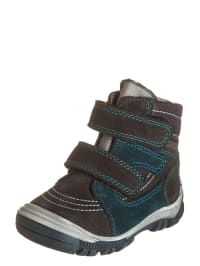 Richter Shoes Leder-Boots in Anthrazit/ Petrol