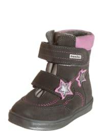 Richter Shoes Leder-Boots in Taupe/ Rosa