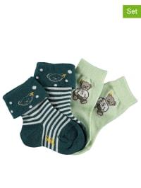Steiff 2er-Set: Socken in Hellgrün/ Dunkelgrün