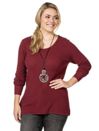 Sheego Pullover in Weinrot