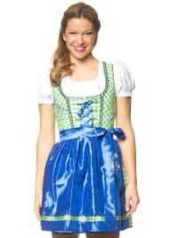 "Stockerpoint Mini-Dirndl ""Uma"" in Grün/ Weiß/ Blau"