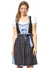 """Stockerpoint Mini-Dirndl """"Elea"""" in Schwarz/ Blau"""