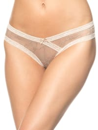 Sassa String in Beige/ Creme