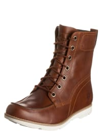 Timberland Leder-Boots in Braun