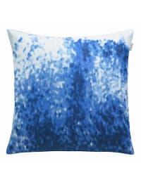 """ESPRIT Kissenbezug """"Splash"""" in Blau/ Weiß"""
