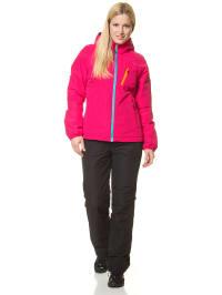 "Raiski 2tlg. Outfit ""Cula"": Funktionsjacke & Outdoorhose in Pink/ Schwarz"