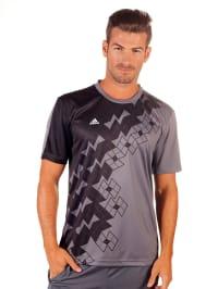Adidas Shirt in Grau/ Schwarz