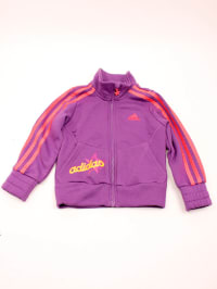 Adidas Outfit: Trainingsjacke und -hose in Lila/ Rosa