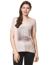 Tom Tailor Shirt in Rosé/ Grau