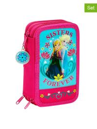 Disney 2tlg. Mäppchen-Set in Pink/ Türkis - (B)12,50 x (H)20,50 x (T)6,00 cm
