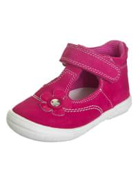 Richter Shoes Leder-Ballerinas in Pink