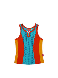 Dutch Bakery Top in Hellblau/ Rot/ Orange