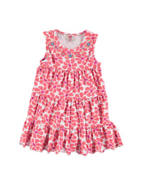 Paglie Kleid in Weiß/ Koralle/ Pink