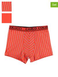 Carlo Colucci 2er-Set: Boxershorts in Orange