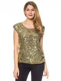 More & More Top in Khaki/ Gold