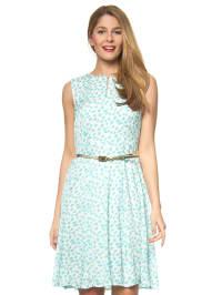More & More Kleid in Mint/ Weiß