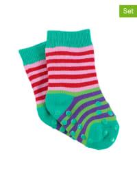 Sterntaler 2er-Set: ABS-Socken in Grün/ Rosa