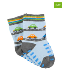 Sterntaler 2er-Set: Stopper-Socken in Hellblau/ Grau