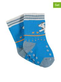 Sterntaler 2er-Set: ABS-Socken in Blau/ Grau