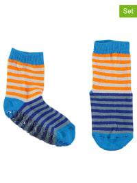 Sterntaler 2er-Set: Stopper-Socken in Blau/ Orange