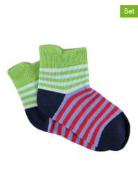 Sterntaler 2er-Set: Socken in Rot/ Bunt