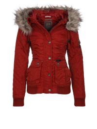 DreiMaster Winterjacke in Rot/ Grau