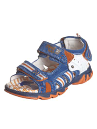 Primigi Leder-Sandalen in Blau/ Weiß/ Orange