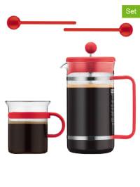 """Bodum 5tlg. Kaffeebereiter-Set """"Bistro"""" in Rot - 1 l"""