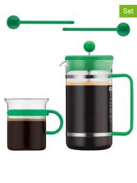 """Bodum 5tlg. Kaffeebereiter-Set """"Bistro"""" in Grün - 1 l"""