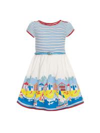 Uttam Boutique Kleid in Creme/ Hellblau