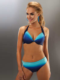 "Aquarilla Bikini ""Barbados"" in Dunkelblau/ Blau/ Hellblau"