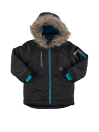 "Color Kids Funktions-Parka ""Thunder"" in Schwarz/ Hellblau"