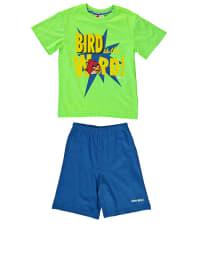 Leomil Pyjama in Blau/ Grün/ Gelb