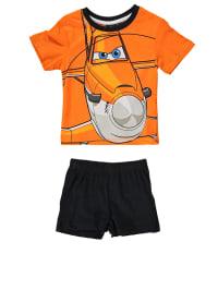 Leomil Pyjama in Orange/ Schwarz