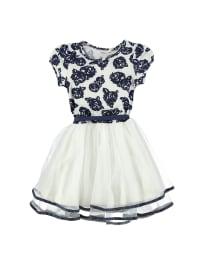 Topo Kleid in Dunkelblau/ Weiß
