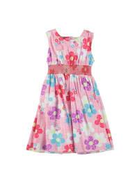Topo Kleid in Rosa/ Bunt