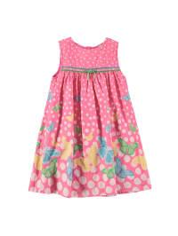 Topo Kleid   in Pink/ Bunt