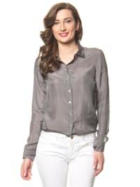 Hilfiger Seiden-Bluse in Grau