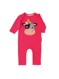 "Olive & Moss Overall ""Collette the Cow"" in Pink/ Bunt"
