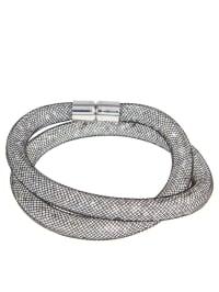 Destellos by Swarovski Elements Armband mit Swarovski-Kristallen in Grau