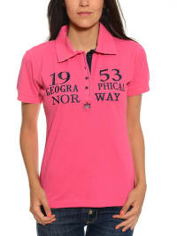 """Geographical Norway Poloshirt """"Koline"""" in Pink"""