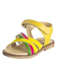 Billowy Leder-Sandalen in Gelb/ Bunt