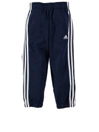 Adidas Trainingshose in Dunkelblau/ Weiß