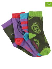 Legowear 4er-Set: Socken in Lila/ Bunt
