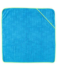 Green Cotton Kapuzenhandtuch in Blau/ Grün - (B)95 x (L)95 cm
