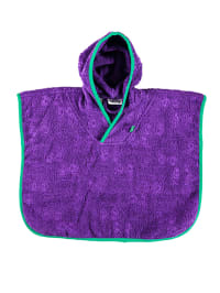Green Cotton Badeponcho in Lila