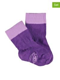 Green Cotton 3er-Set: Socken in Lila