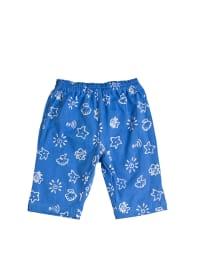 Lillipilli Stoffhose in Blau/ Weiß