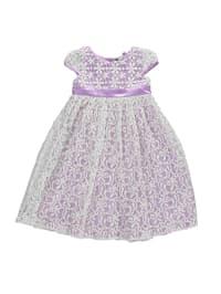 Eisend Kleid in Flieder/ Creme